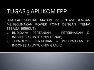 TUGAS 3 APLIKOM FPP