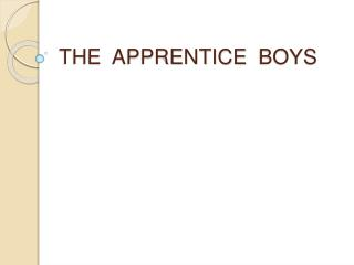 THE  APPRENTICE   BOYS