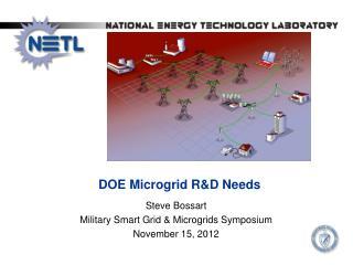 DOE  Microgrid  R&D Needs