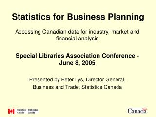 Statistics for Business Planning
