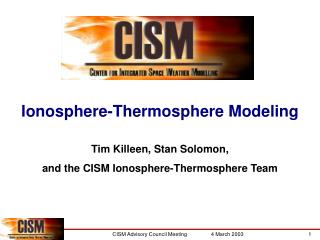 Ionosphere-Thermosphere Modeling