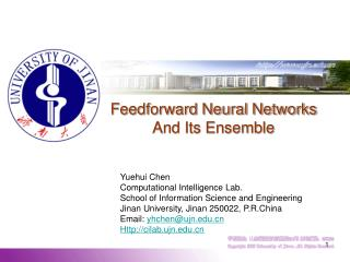 Feedforward Neural Networks  And Its Ensemble