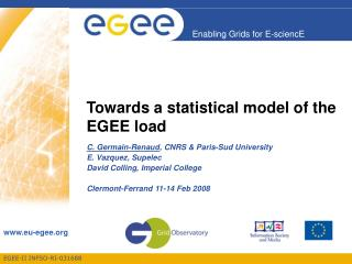 Towards a statistical model of the EGEE load