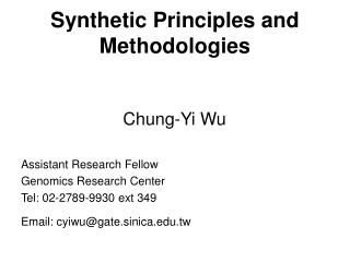 Synthetic Principles and Methodologies