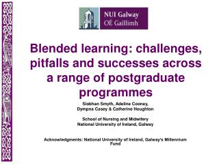 Blended learning: challenges, pitfalls and successes across a range of postgraduate programmes