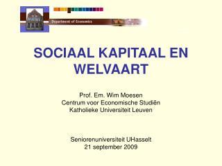 SOCIAAL KAPITAAL EN WELVAART