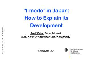 """I-mode"" in Japan: How to Explain its Development"