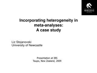 Incorporating heterogeneity in  meta-analyses:  A case study
