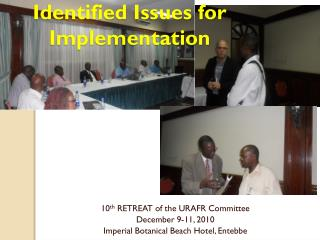Identified Issues for Implementation