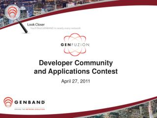 Developer Community and Applications Contest