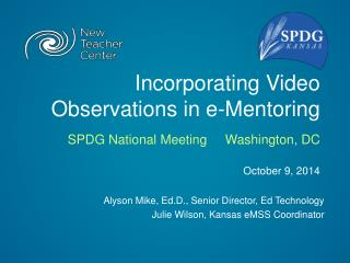 Incorporating Video Observations in e-Mentoring