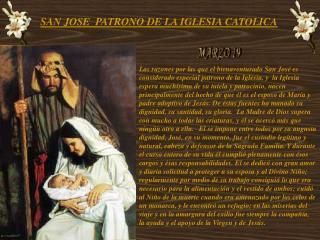 SAN JOSE PATRONO DE LA IGLESIA CATOLICA