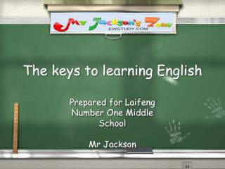 The keys to learning English