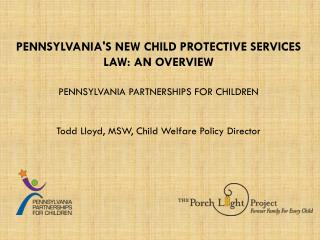 Todd Lloyd, MSW, Child Welfare Policy Director