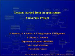 Lessons learned from an open-source University Project