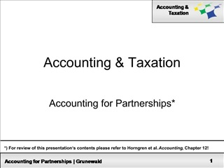 Accounting  Taxation