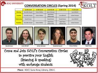 CONVERSATION CIRCLES (Spring 2014)