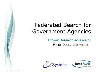 Federated Search for  Government Agencies