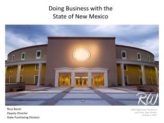 Doing Business with the  State of New Mexico