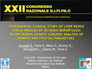 EXPERIMENTAL CLINICAL STUDY OF LIVER REDOX