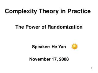 Complexity Theory in Practice