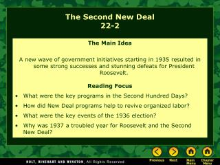 The Second New Deal 22-2