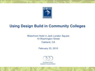Using Design Build in Community Colleges
