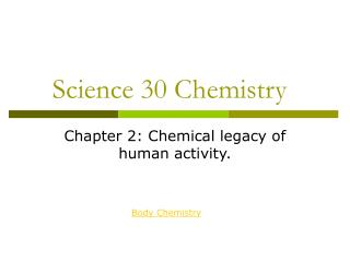 Science 30 Chemistry