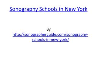 Sonography Schools in New York