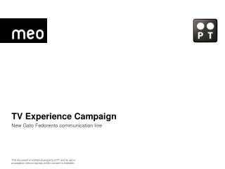 TV Experience Campaign New Gato Fedorento communication line