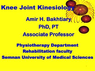 Knee Joint Kinesiology