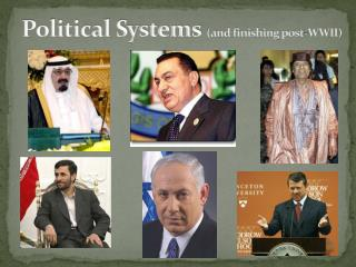 Political Systems  (and finishing post-WWII)