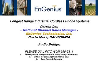 Longest Range Industrial Cordless Phone Systems