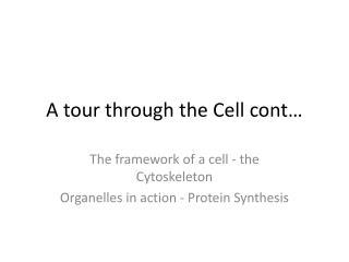 A tour through the Cell cont…