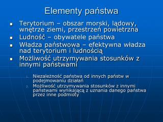 Elementy państwa