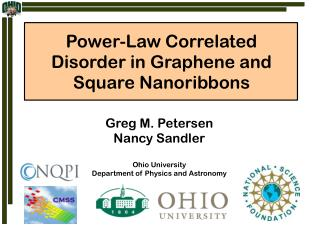 Power-Law Correlated Disorder in Graphene and Square Nanoribbons