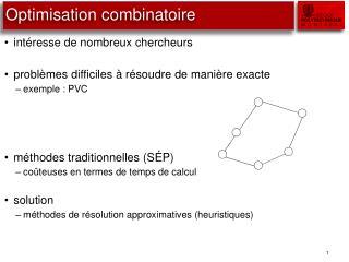 Optimisation combinatoire