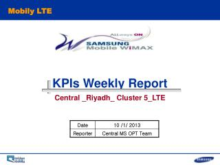 KPIs Weekly Report