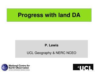 Progress with land DA