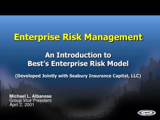 Enterprise Risk Management An Introduction to  Best's Enterprise Risk Model