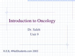 Introduction to Oncology