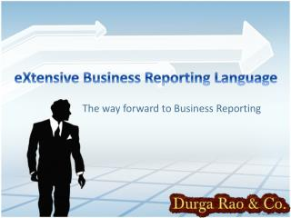 eXtensive Business Reporting Language