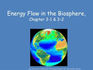 Energy Flow in the Biosphere, Chapter 3-1 & 3-2