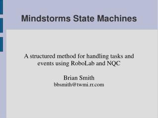 Mindstorms State Machines