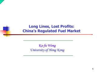 Ka-fu Wong University of Hong Kong