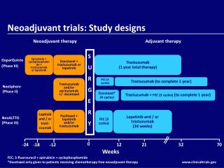 Neoadjuvant trials: Study designs