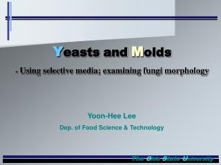 Yoon-Hee Lee Dep. of Food Science & Technology