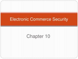 Electronic Commerce Security