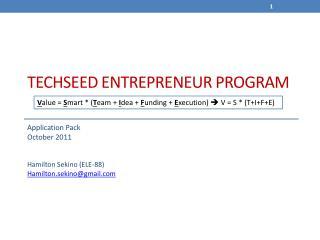 TechSeed ENTREPRENEUR PROGRAM