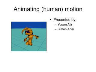 Animating (human) motion